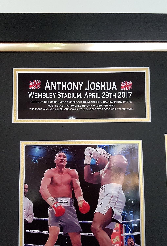 22193c24 www.signedmemorabiliashop.co.uk New ANTHONY JOSHUA Signed Boxing Glove.  Wembley, vs Klitschko Display!! AFTAL DEALER CERTIFICATE: Amazon.co.uk:  Sports & ...