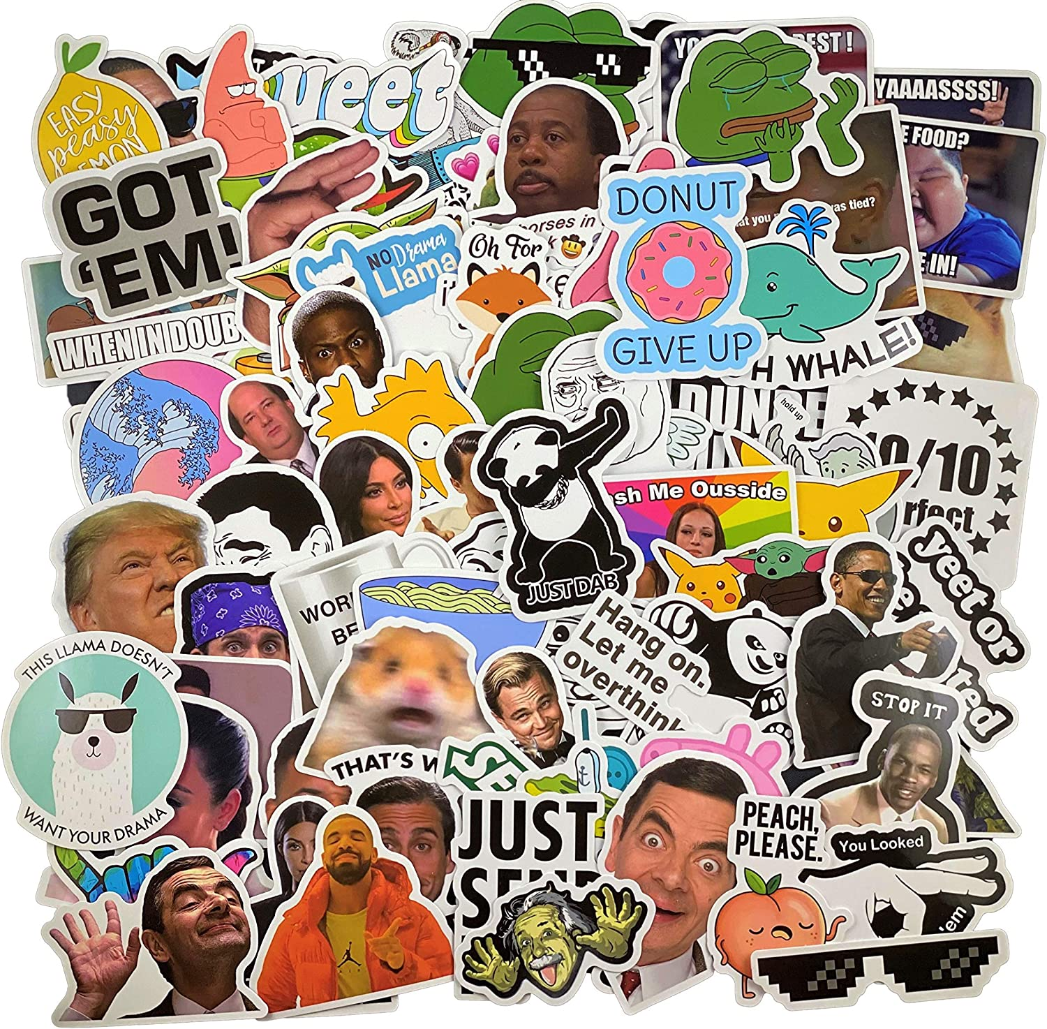 (106 Pcs) Funny Meme Vinyl Stickers Pack, Vine Stickers for Laptop, iPhone, Water Bottles, Computer, and Hydro Flask, DIY Decor for Bumper Wall