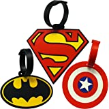 Super Heroes Theme Luggage Tag/ID Tag set, Set of 3