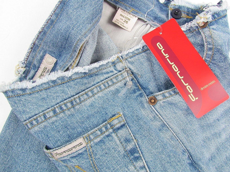 Fornarina 70er Hippie Vintage Retro Colore: Blu Chiaro Effetto Jeans Jeans da Donna