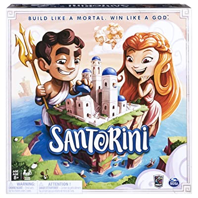 Spin Master Games 6039848 Santorini - Strategy-Based Board Game, Multicolor: Toys & Games
