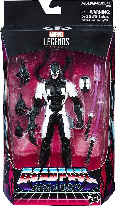 "Hasbro Marvel Legends Series Deadpool Back in Black 6/"" inch Action Figure"