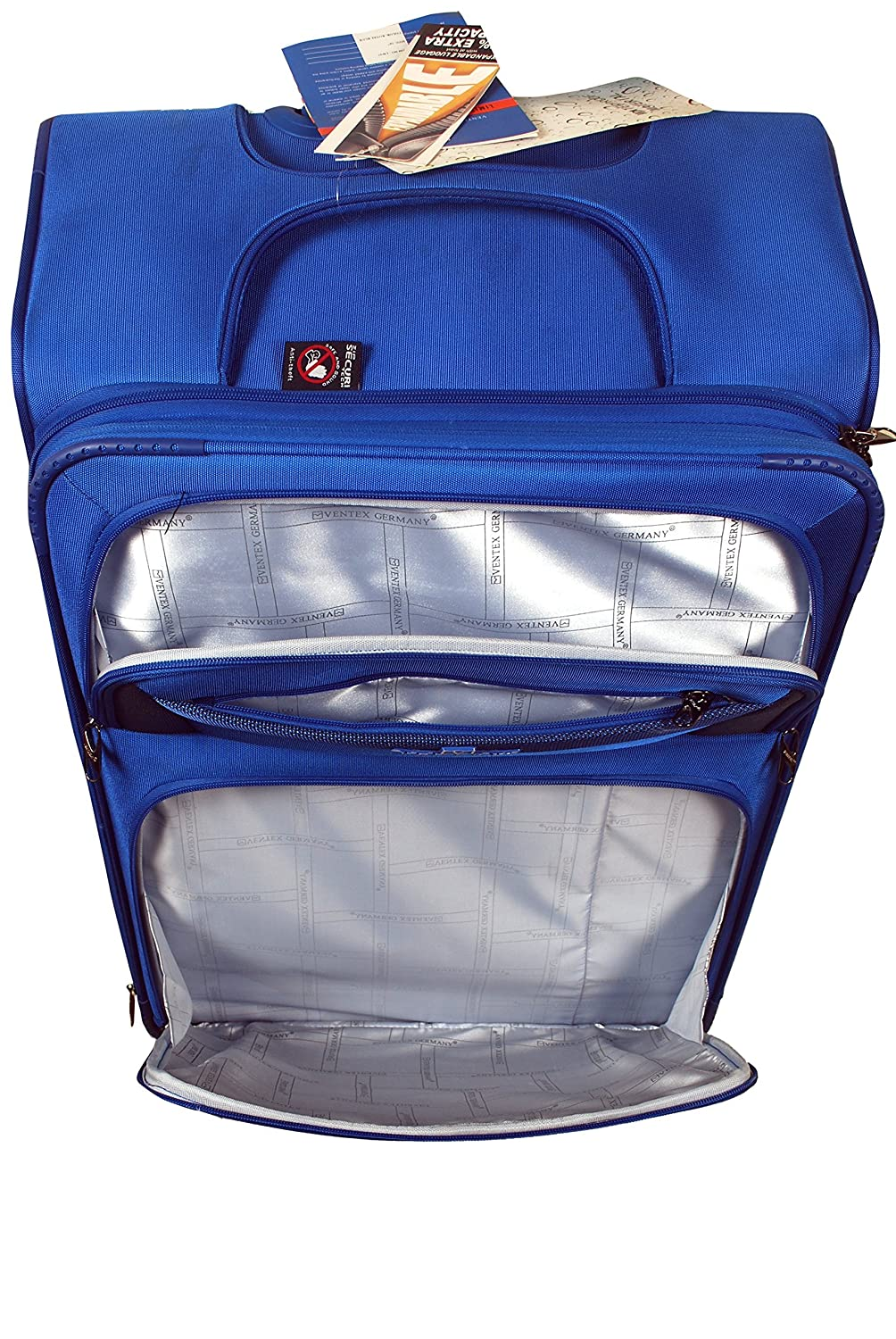 2ffde1389f27 Ventex Polyester Royal Blue Suitcase   Trolley Bag  Amazon.in  Bags ...