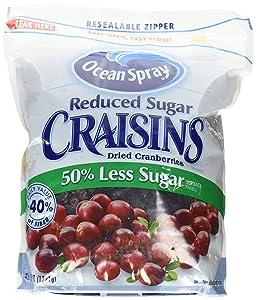 Ocean Spray Reduced Sugar Craisins, 43 oz