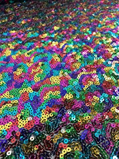 3mm SEQUIN Fabric Material 1 Way Stretch 130cm Wide Glitter Sequins DIY Backdrop