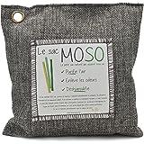 Le sac MOSO version 500 GR - Purificateur d'air, Désodorisant, Absorbeur d'humidité, Naturel et sans odeur au Charbon de Bambou - 500 Gr (Charbon)