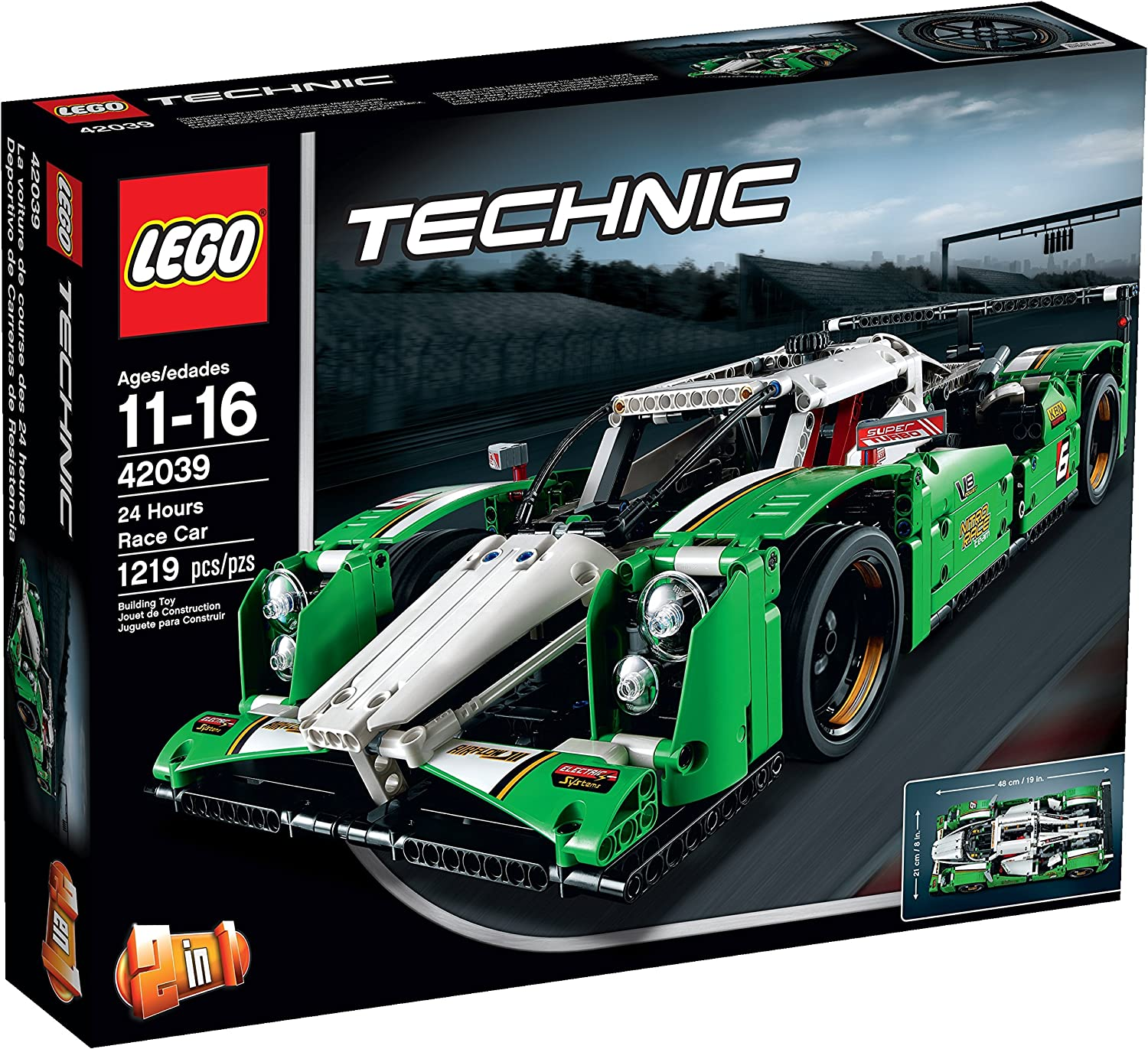 Amazon Com Lego Technic 24 Hours Race Car Toys Games