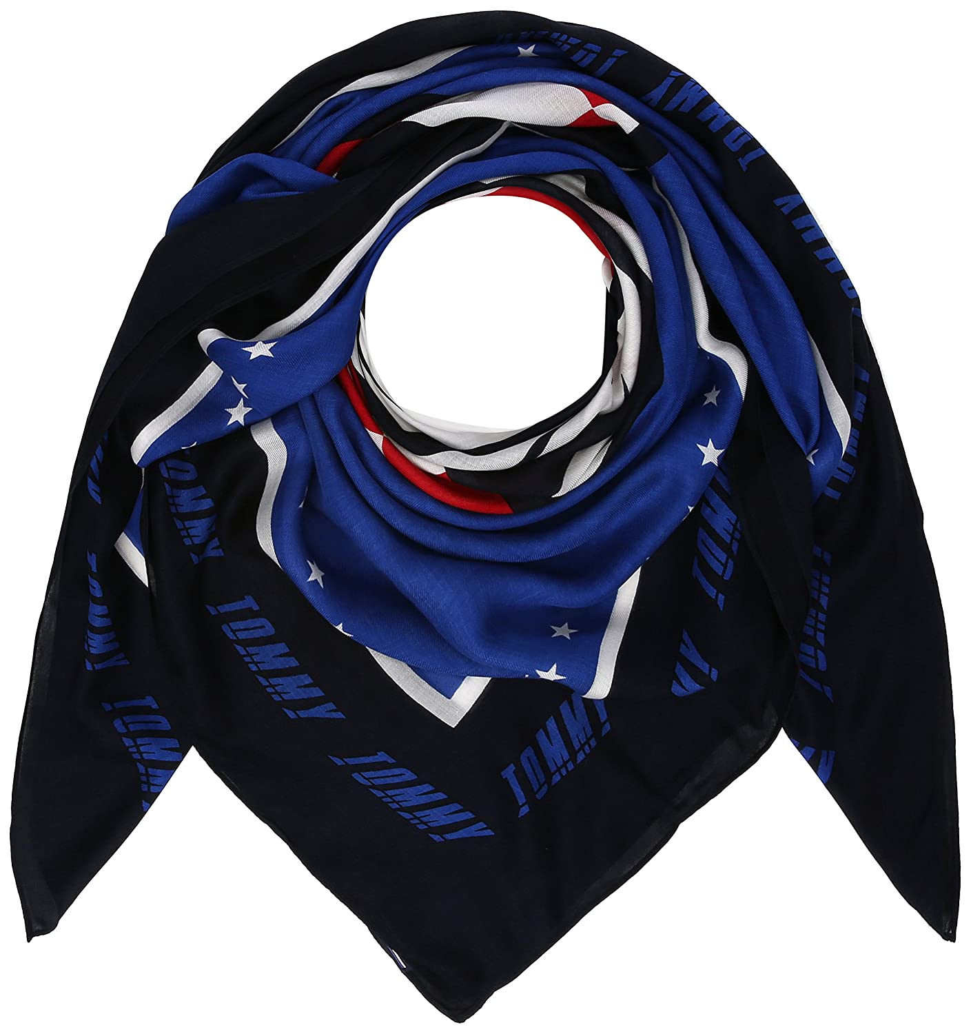 Tommy Hilfiger Race Square, Foulard Donna, Blu (Surf The Web Mix 901), Unica (Taglia Produttore: OS) AW0AW05215