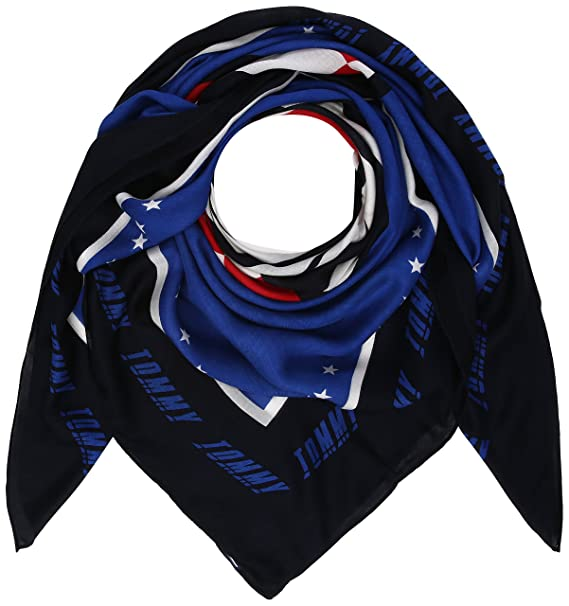 Tommy Hilfiger Race Square, Foulard Donna, Blu  (Surf The Web Mix 901 ), ... c9cc89eaad1