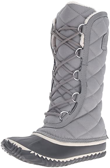 SOREL Women s Out N About Tall Snow Boot Grey 5 ... 2e8b425eb