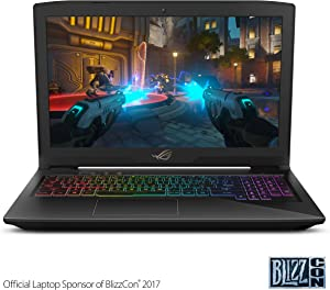 "Asus ROG Strix Thin and Light Gaming Laptop, 15"" Full HD, Intel Core i7-7700HQ Processor, 16GB DDR4 RAM, 256GB SSD + 1TB HDD, GeForce GTX 1050 4GB, RGB, Windows 10 Home - GL503VD-DB74"
