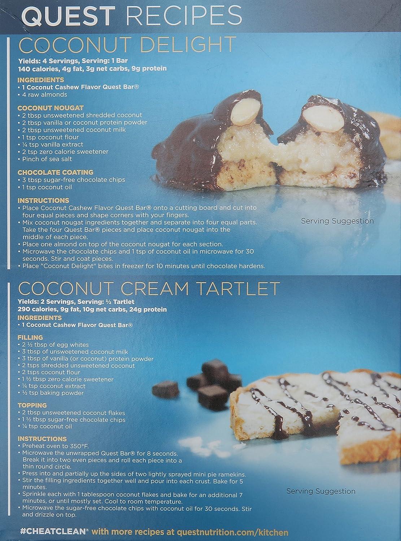 Amazon.com: Quest Nutrition Protein Bar, Coconut Cashew, 2.12 Ounce ...