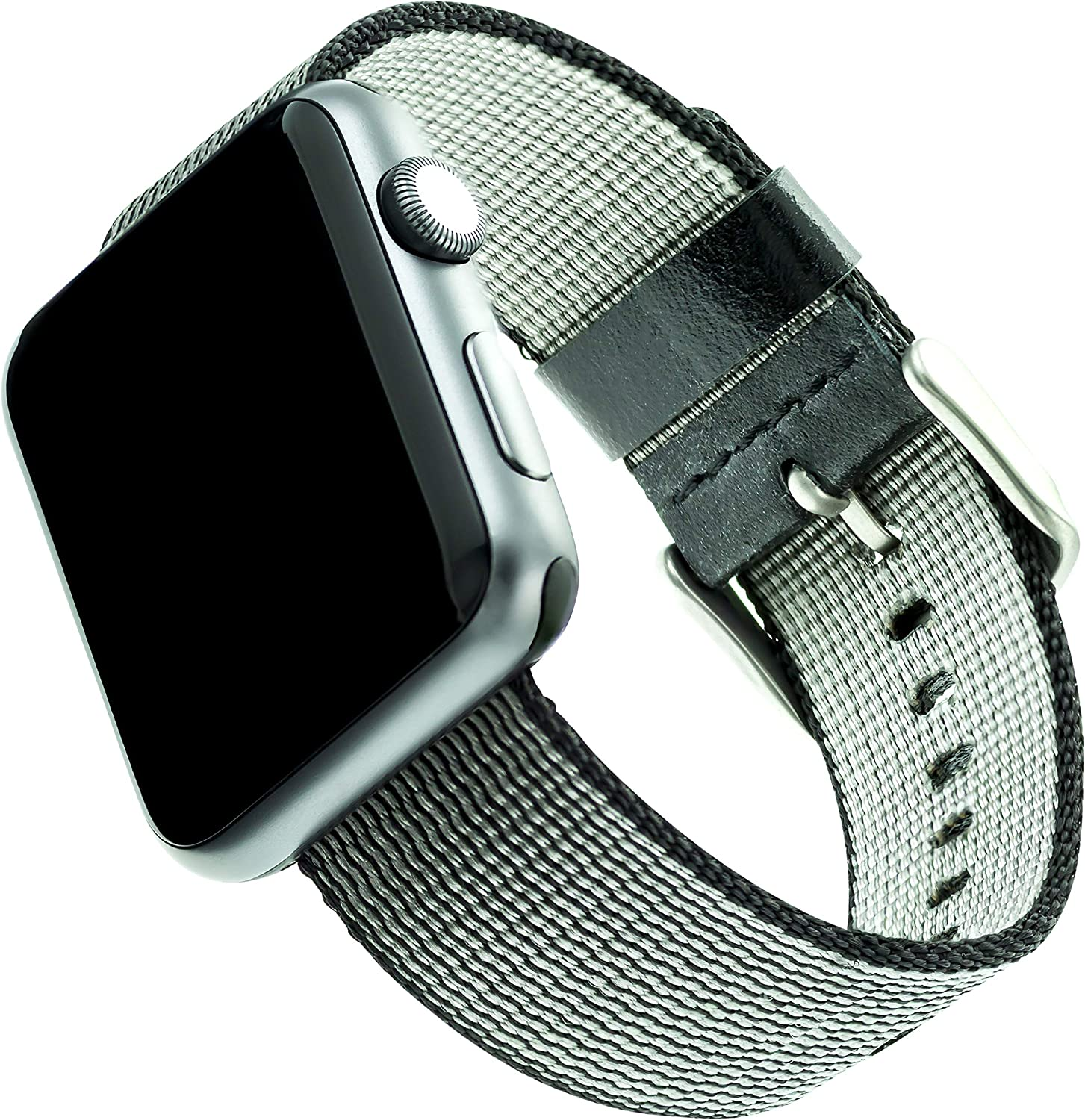 WITHit Nylon Replacement Band for Apple Watch, 38/40mm, Black – Secure, Adjustable Stainless-Steel Buckle Closure, Apple Watch Band Replacement, Fits Most Wrists