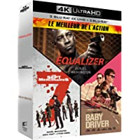Meilleur de l'action - Coffret : Equalizer + Les Sept Mercenaires + Baby Driver [4K Ultra HD
