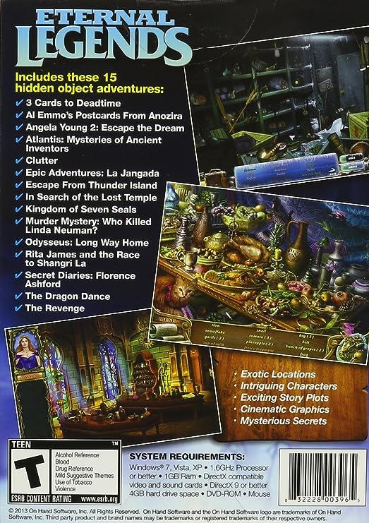 Eternal Legends, A Hidden Object 15 Pack (PC DVD ROM)