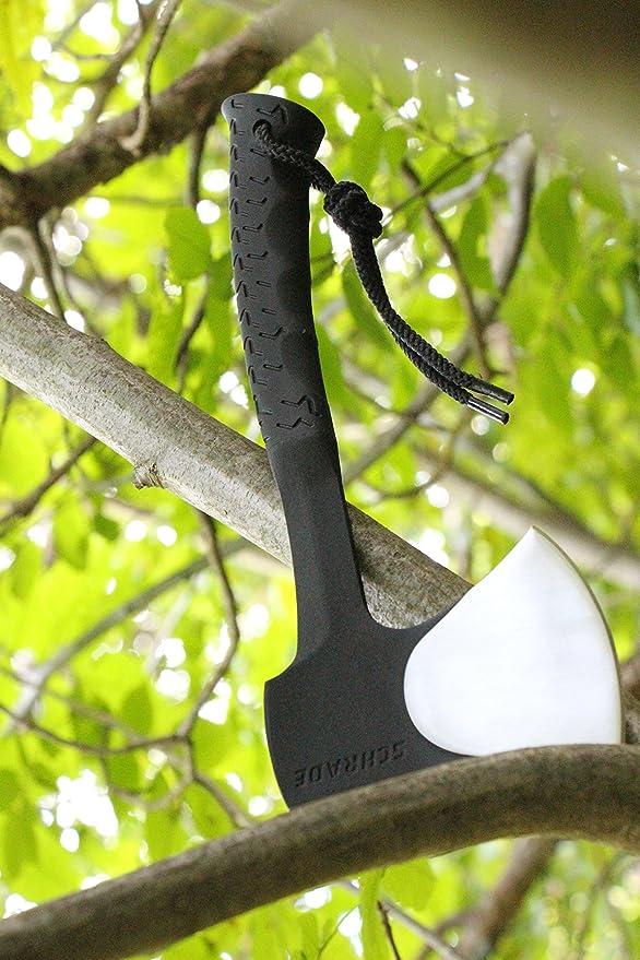 un tama/ño Plateado Adulto Schrade SCHAXE10 Cuchillo tascabile,Unisex