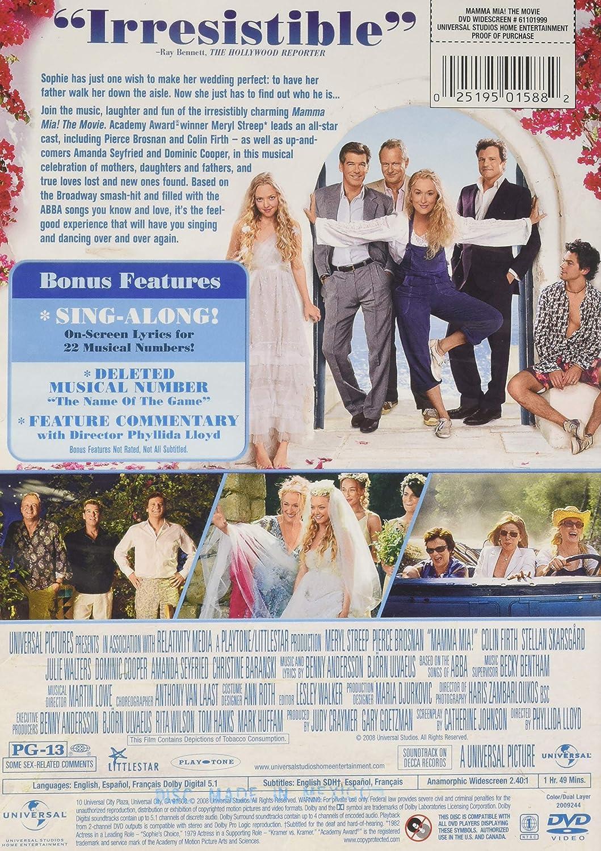 Amazon com: Mamma Mia! The Movie (Widescreen): MAMMA MIA (2008