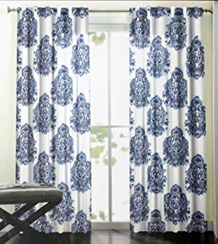 Amazon.com: Nicole Miller Long Window Curtain Panels 52 Inches by ...