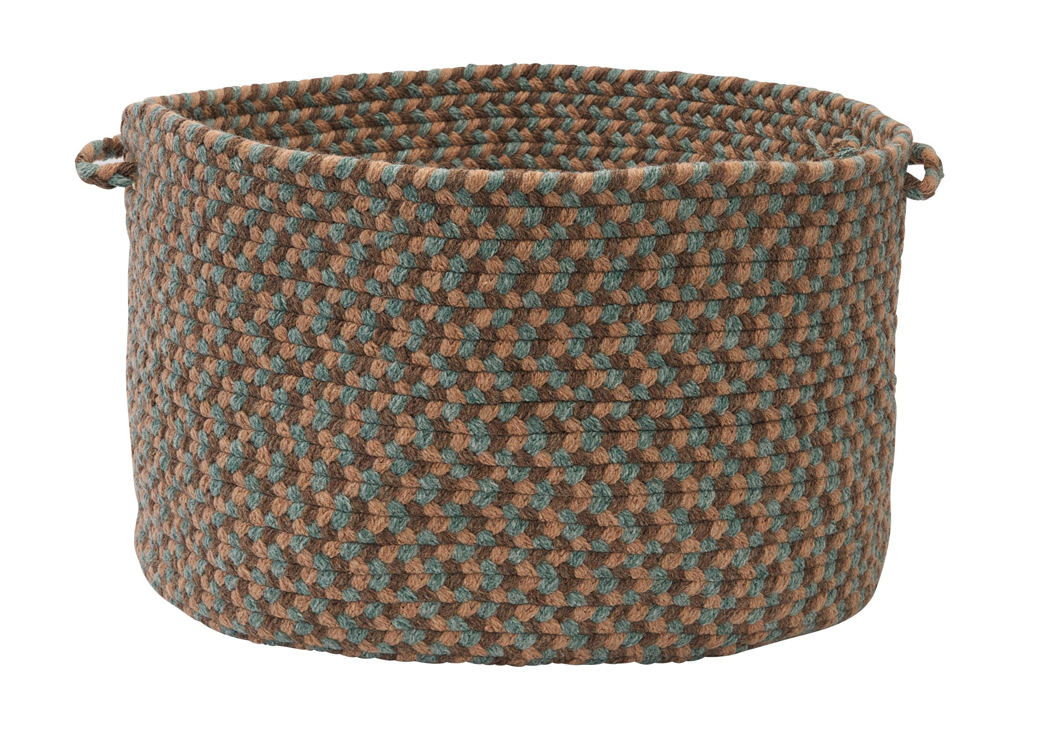 Colonial Mills Boston Common Utility Basket, 14 by 10-Inch, Driftwood Teal