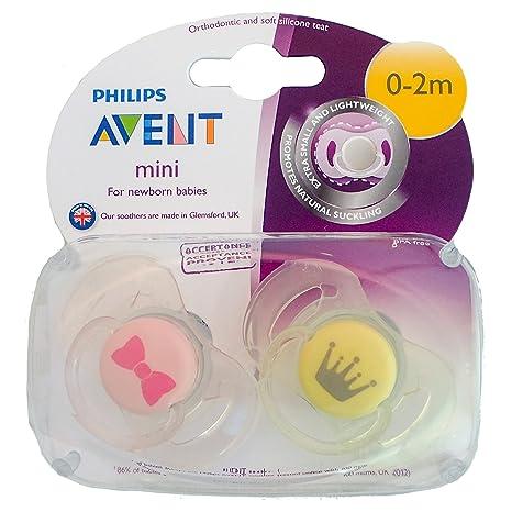 Philips Avent Mini: 2 x Chupetes 0-2m (Lazo/Corona): Amazon ...