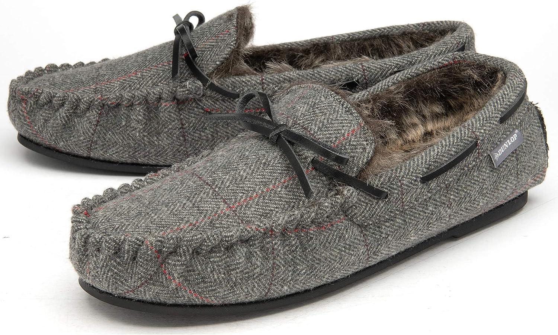 Zapatillas de Estar en casa para Hombre Piel sint/ética, con Forro de Espuma viscoel/ástica Dunlop