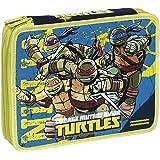 Giochi Preziosi - Tartarughe Ninja Astuccio Maxi con Colori, Pennarelli ed Accessori Scuola