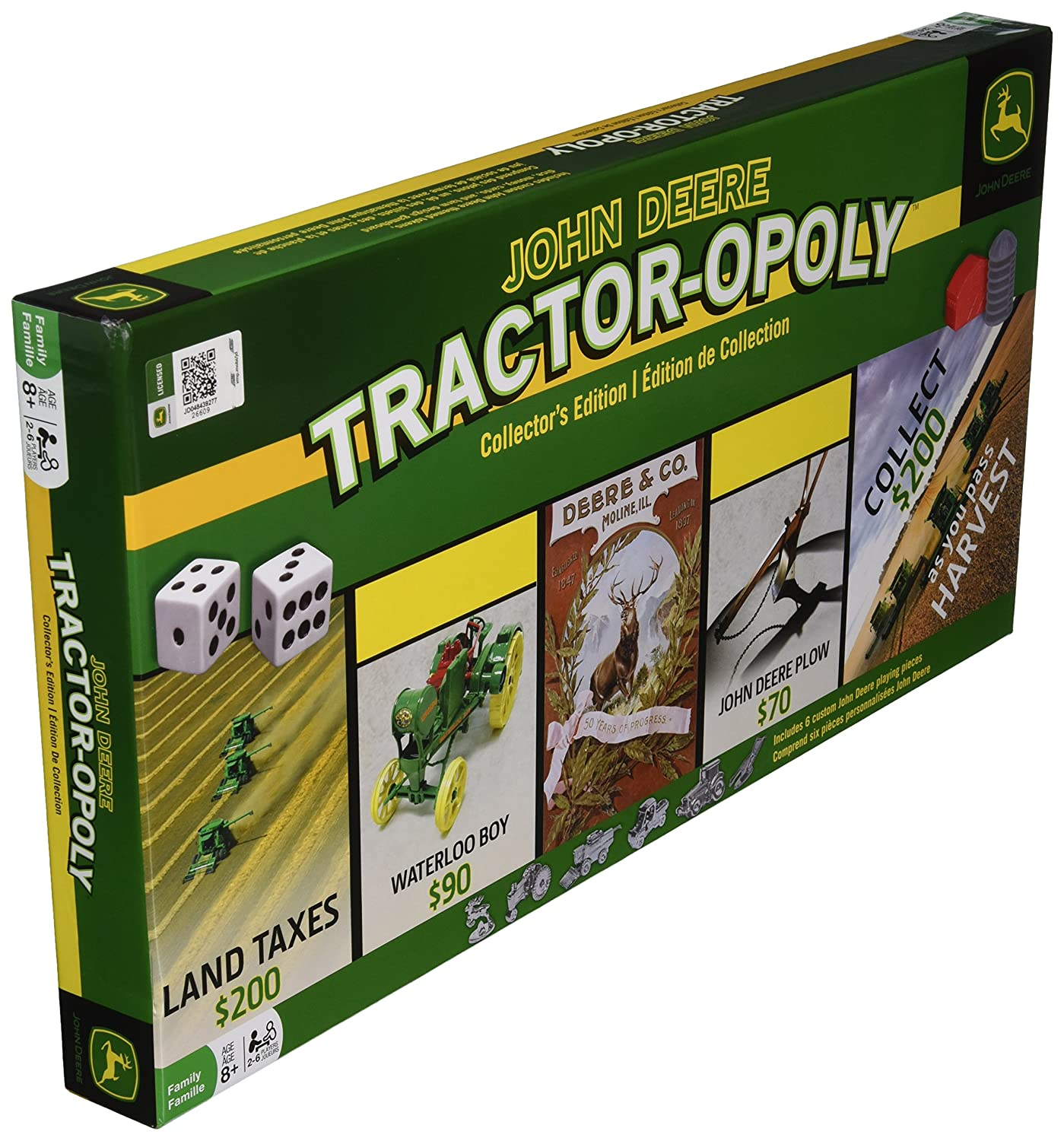 Amazon Masterpieces John Deere Tractor Opoly Board Game Toys
