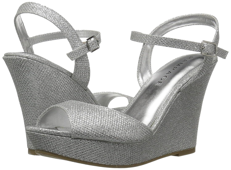 Frauen Platform Sandalen Silber Silber Silber Glitter 7ccaeb