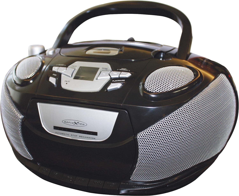 Reflexion Rcr 4652 Radio Recorder With Mp3 Cd Player And 4x Speaker Black Mp3 Hifi