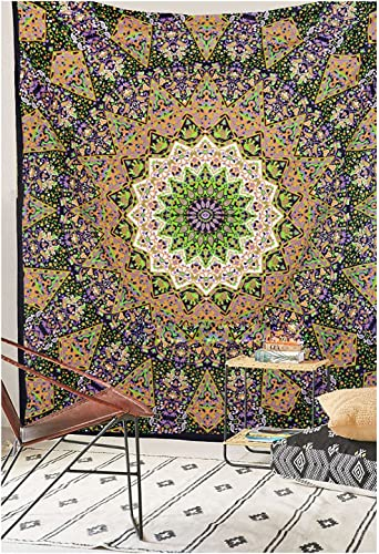 WSHINE Wall Hanging,Psychedelic Tapestry, Beach Throw Towel Indian Tapestry Bedding Yoga Mat Table Cover A