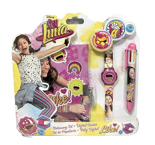 Reloj niño Disney soy Luna je suis luna Plus diario y bolígrafo: Amazon.es: Relojes
