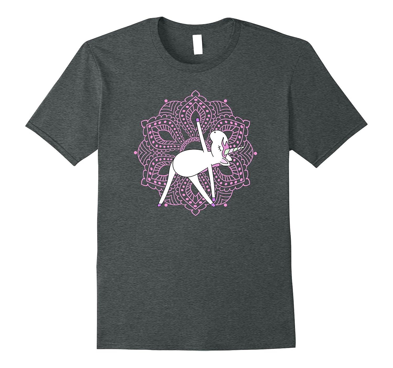 Yoga Unicorn Triangle Pose  Namaste  Pink Mandala Magic