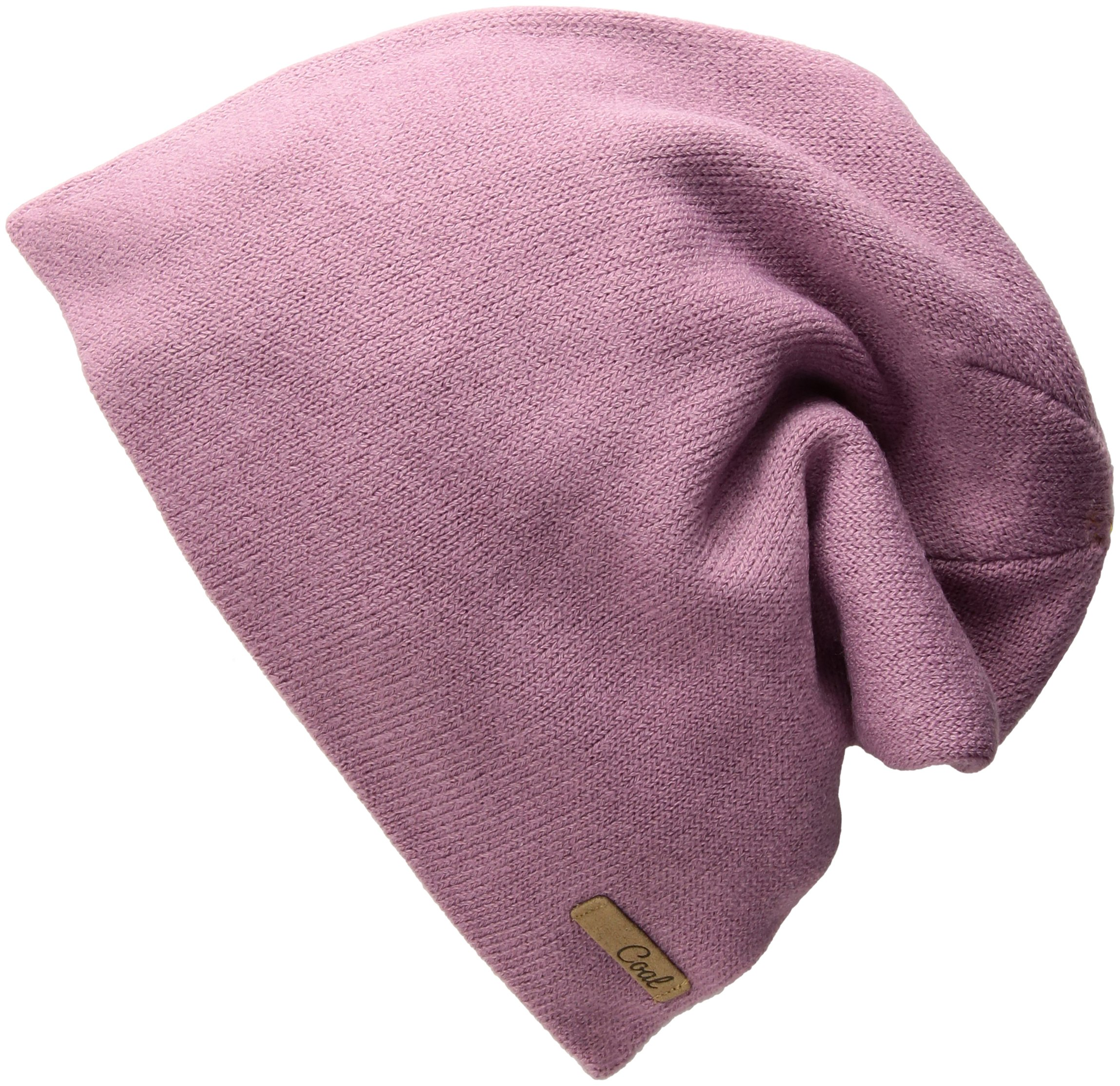Coal Women's The Julietta Soft Fine Knit Slouchy Fashion Beanie Hat, Mauve, One Size