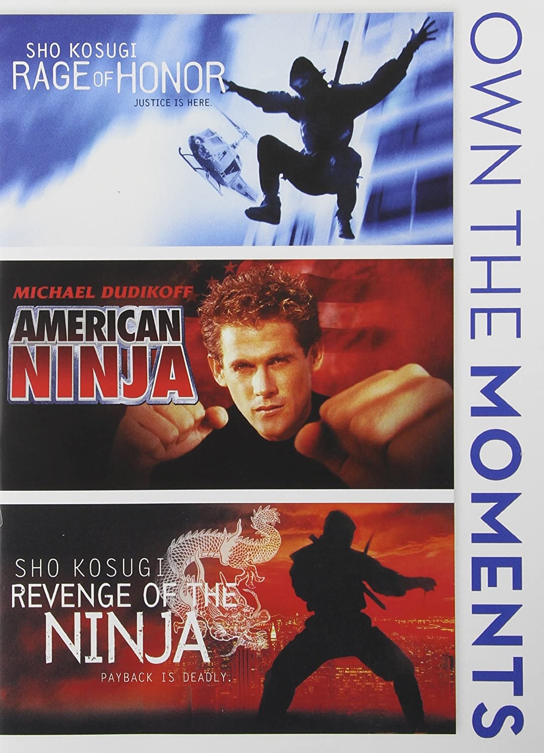 Rage of Honor / American Ninja / Revenge of Ninja Reino ...