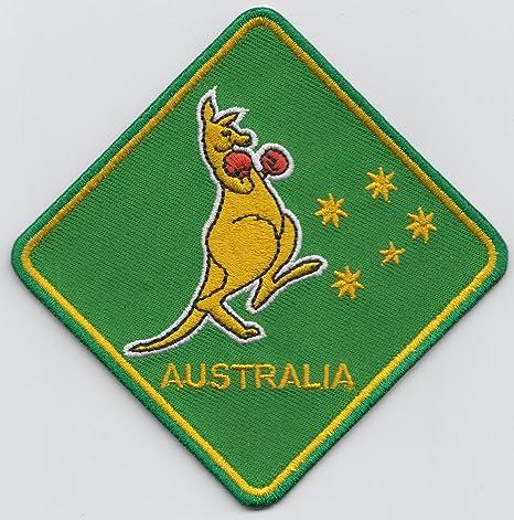La bandera australiana Australia de boxeo canguro parche escudo del Real Mallorca