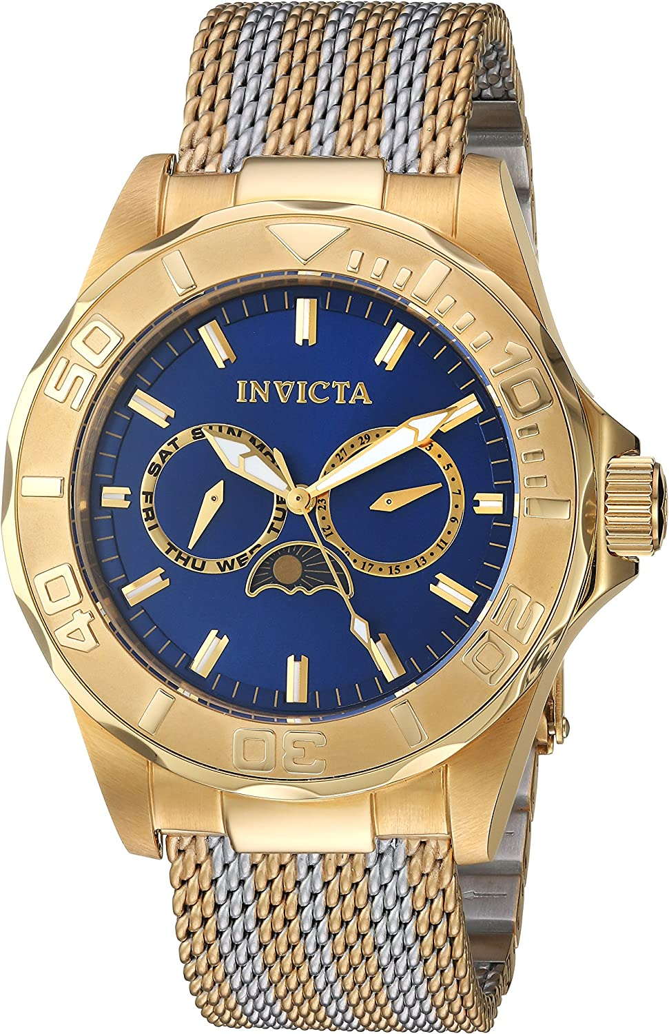 Invicta Men s Pro Diver Quartz Watch with Two-Tone-Stainless-Steel Strap, 22 Model 24993