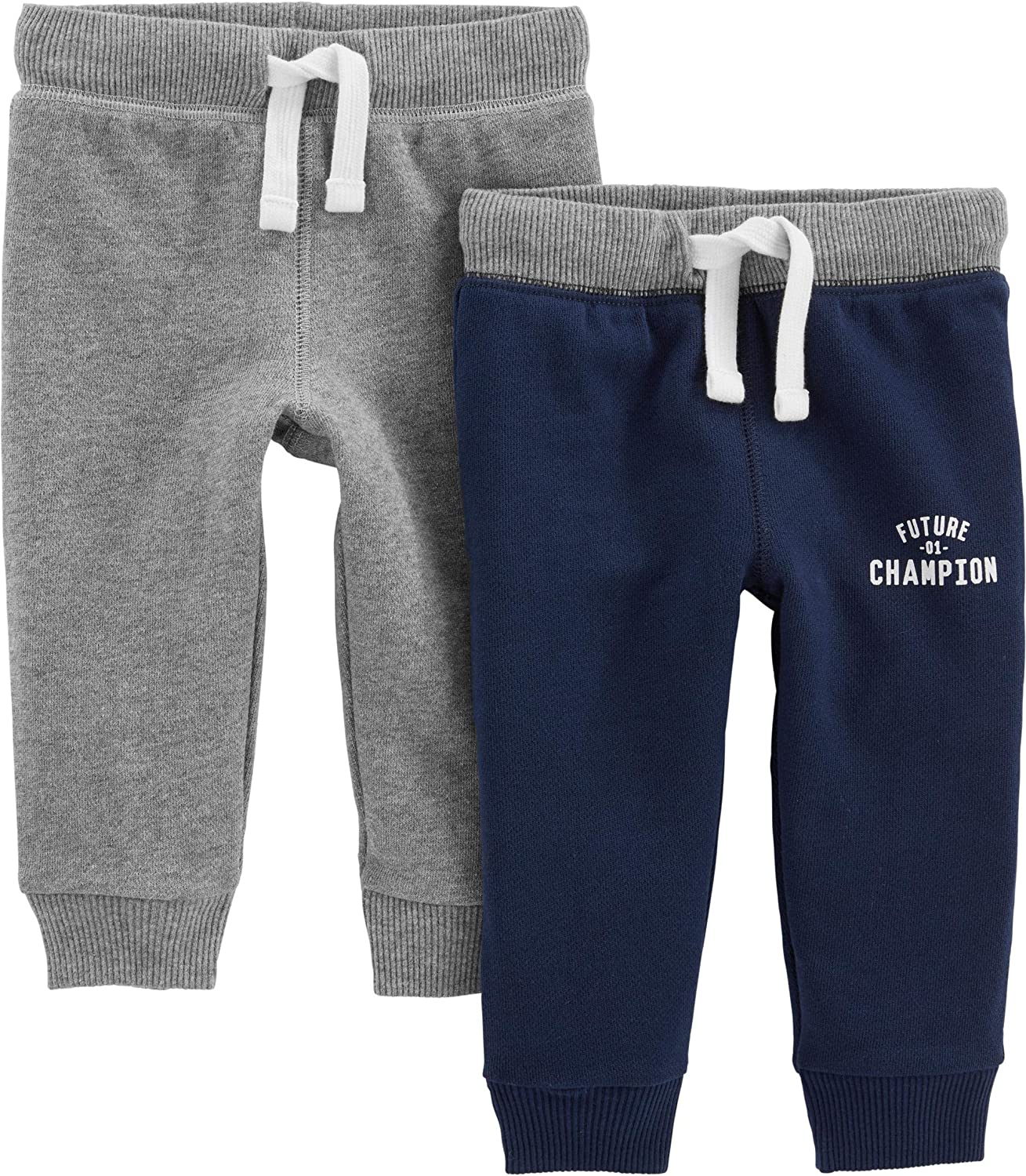 Simple Joys by Carters Baby and Toddler Boys 2-Pack Athletic Knit Jogger Pants