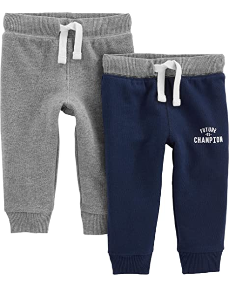 d49e1feff Amazon.com: Simple Joys by Carter's Baby and Toddler Boys' 2-Pack Athletic  Knit Jogger Pants: Clothing