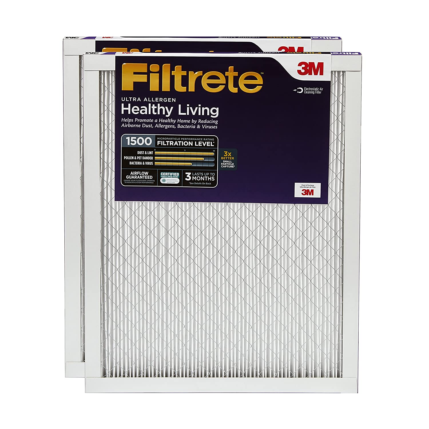 3M Filtrete Healthy Livingフィルター 14x20x1 UR05-2PK-6E 2 B00TUDHPSS 14x20x1|2 14x20x1