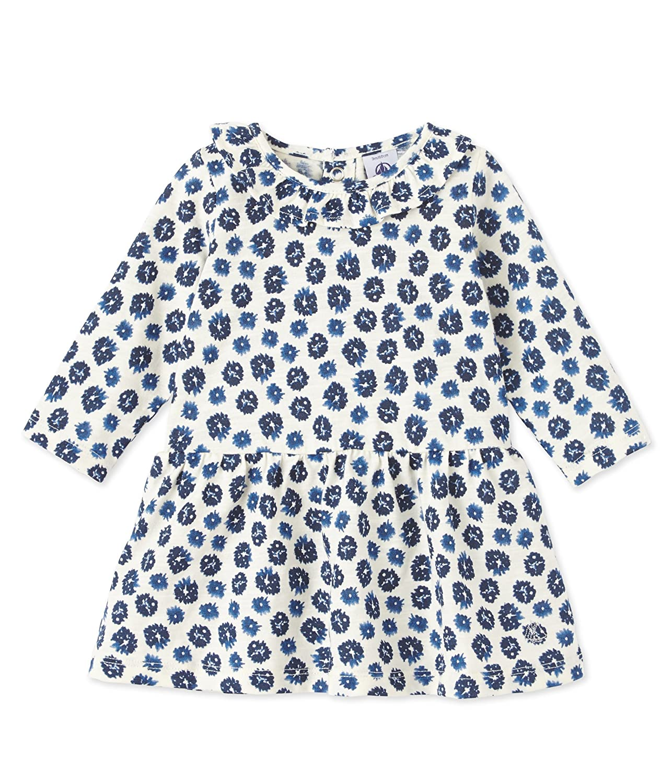 Petit Bateauベビー女の子花柄プリントドレスwith Ruffle Collar 18 Months ブルー/ホワイト B01FTU8FU2