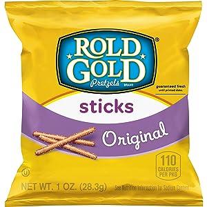Rold Gold Pretzel Sticks, 1 Ounce Bags, 40 Count