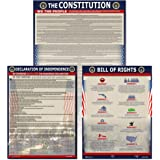 American Founding documents Laminated 3 pack: US Constitution, Declaration of Independence and Bill of Rights UPDATED FIXED 2