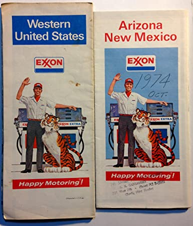 Amazon.com: Vintage Original 1970s Exxon Road Maps of Western United ...