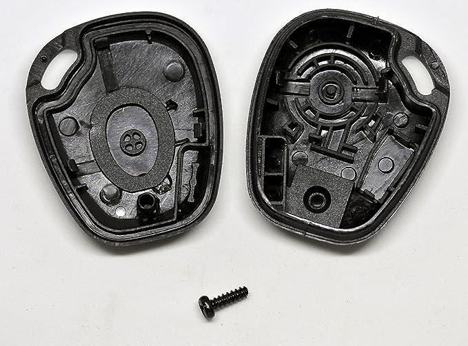 Auto Llave Mando a distancia 2 x Carcasa + 2 x CR1620 Batter + 2 x tornillo a juego para Renault: Amazon.es: Electrónica
