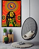 CHRISTMAS EXCLUSIVE GIFT & HOME DECOR Bob Marley Small Tapestry Poster 30x40 inches Reggae Tapestries, Hippie Wall Hanging Rasta Tapestry Cotton Sheet By ANJANIYA (Bob Marley Laughing)