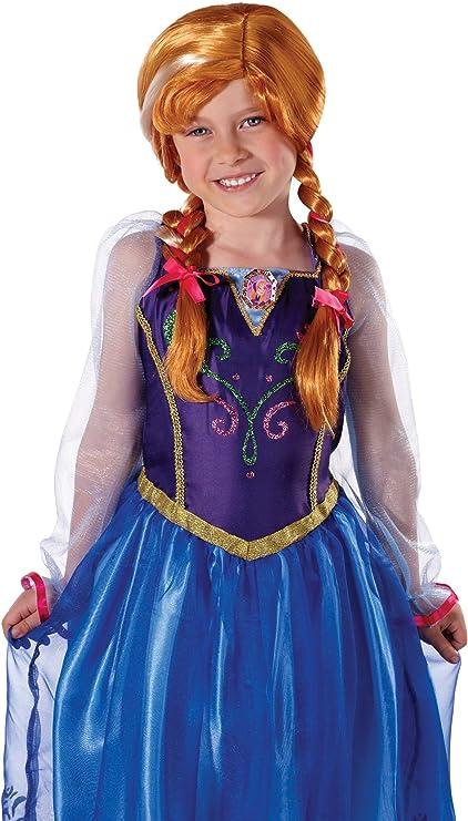 Frozen II Brown Disney Anna Costume Wig for Girls