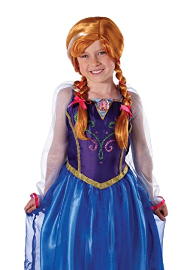 store materiale selezionato prezzo di strada Jakks Pacific UK Ltd Anna Frozen Disney Parrucca per costume di ...