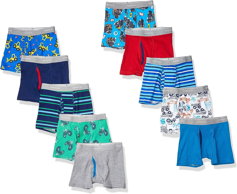 Hanes Boys' Tagless Super Soft Boxer Briefs 10-Pack