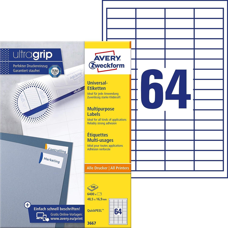 500 Bögen Etiketten 97 X 42,3 mm Blatt auf DIN A4 Kompatibel zu Zweckform 3659