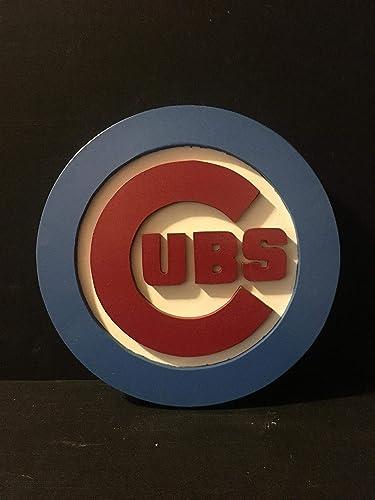 Amazoncom Chicago Cubs Wood Sign Handmade